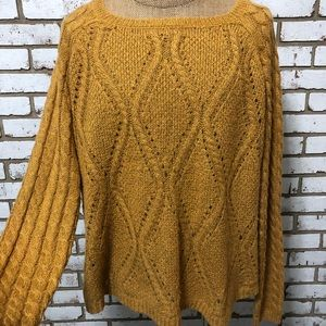Maurices Plus Size Mustard Yellow Knit Sweater